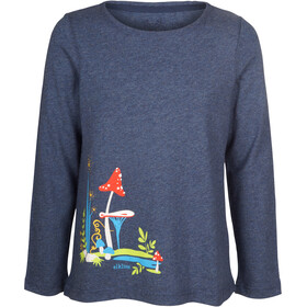 Elkline Fliegenpilz Longsleeve Shirt Girls Bluemelange